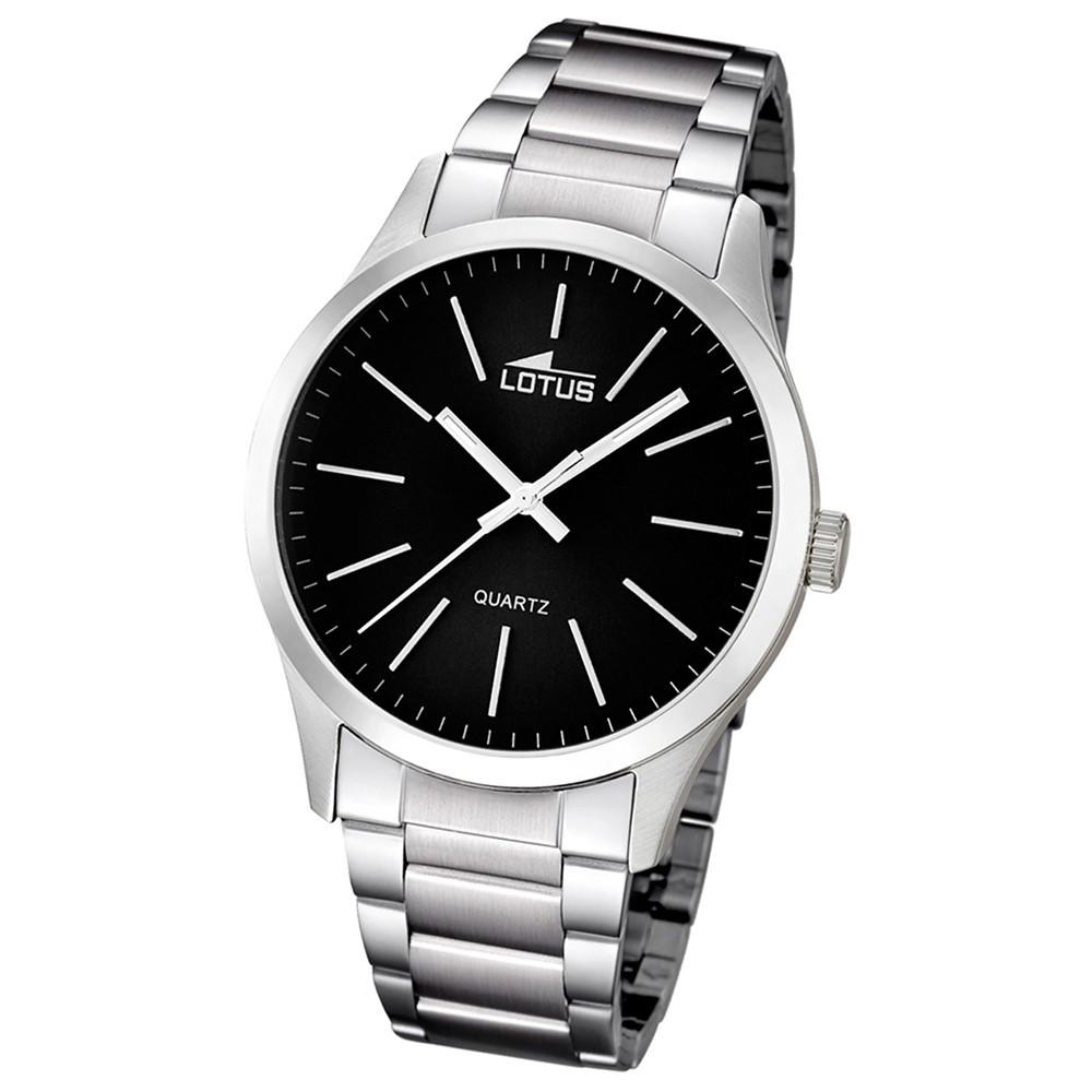 LOTUS Multifunktion Herrenuhr schwarz Edelstahl Minimalist Uhren UL15959/3