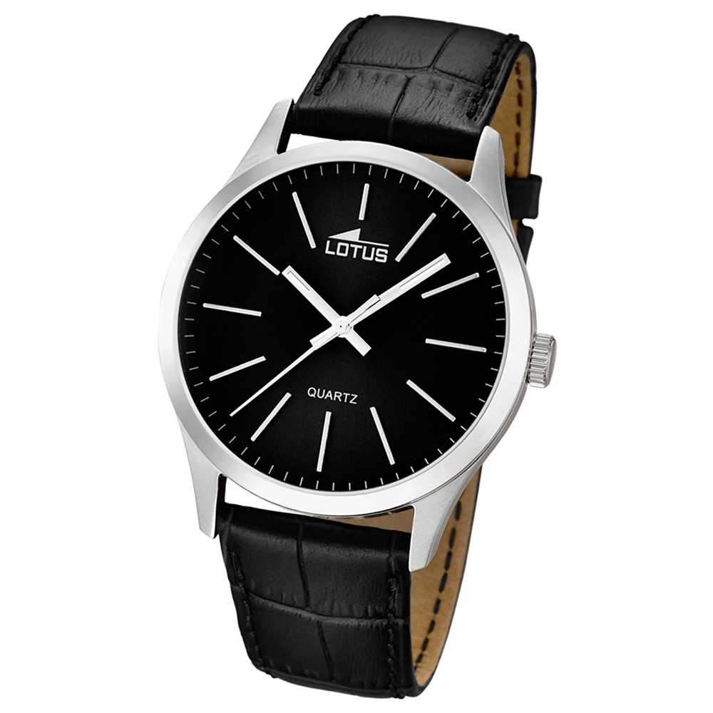 LOTUS Herren-Armbanduhr Minimalist analog Quarz Leder UL15961/3