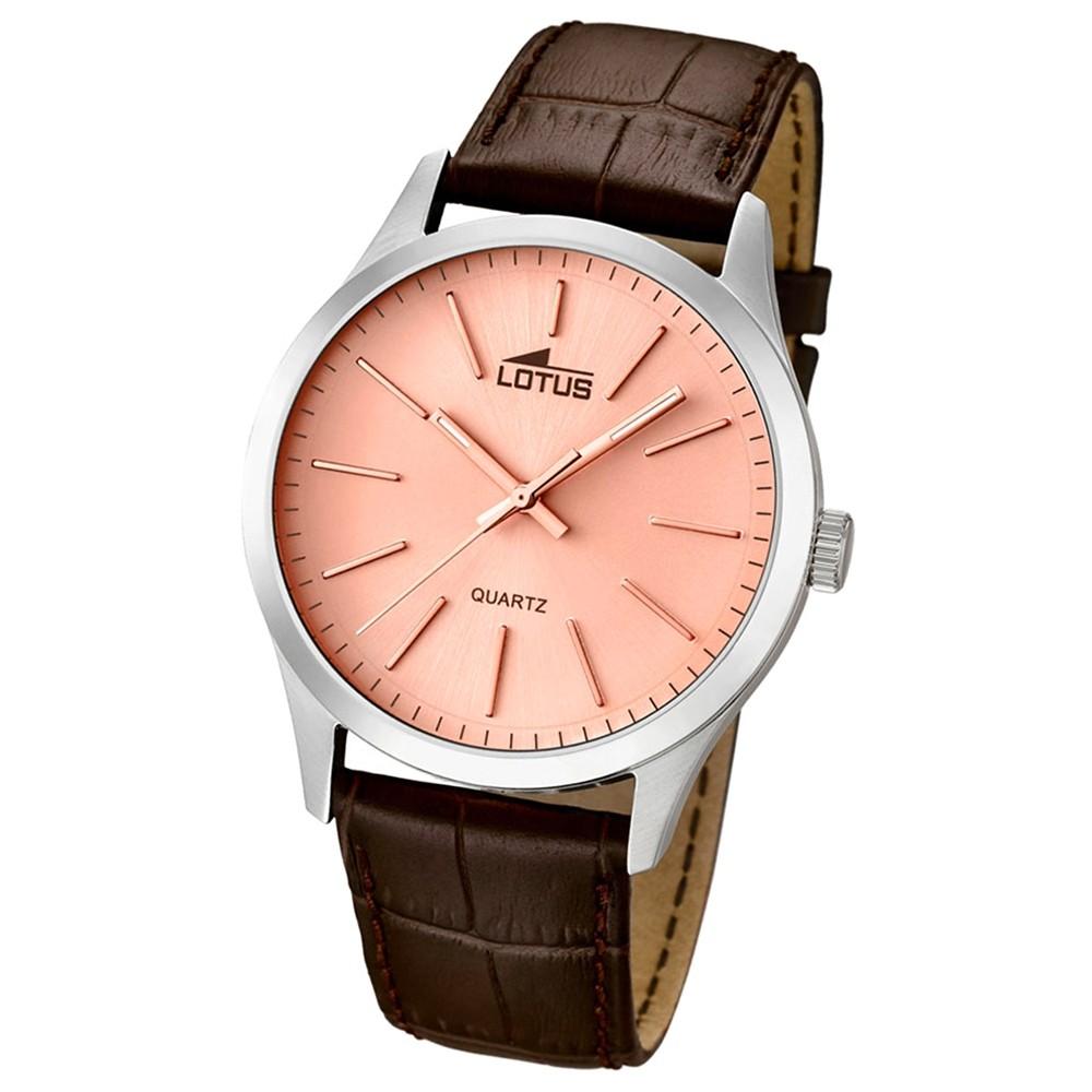 LOTUS Herrenuhr Minimalist Analog Quarz Uhr Leder Armband braun UL15961/4