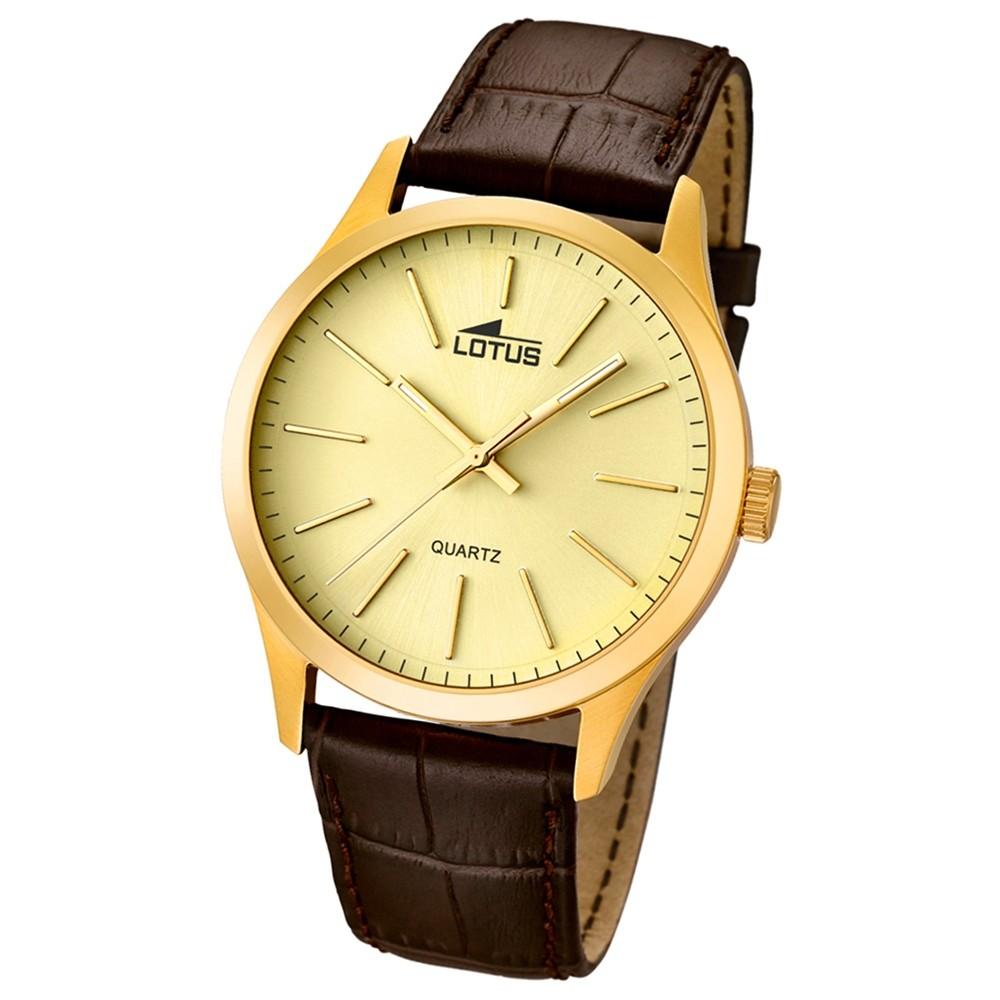 LOTUS Herrenuhr Minimalist Analog Quarz Uhr Leder Armband braun UL15962/2