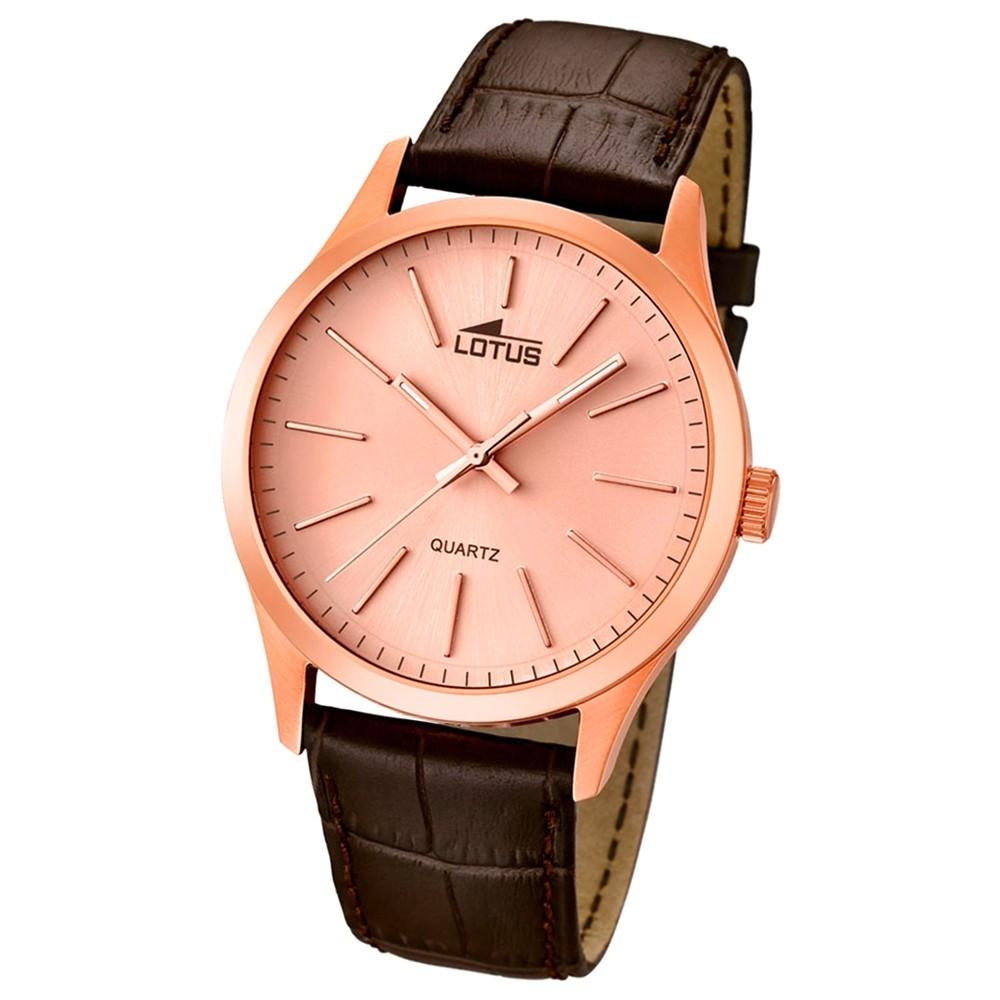 LOTUS Herrenuhr Minimalist Analog Quarz Uhr Leder Armband braun UL15963/3