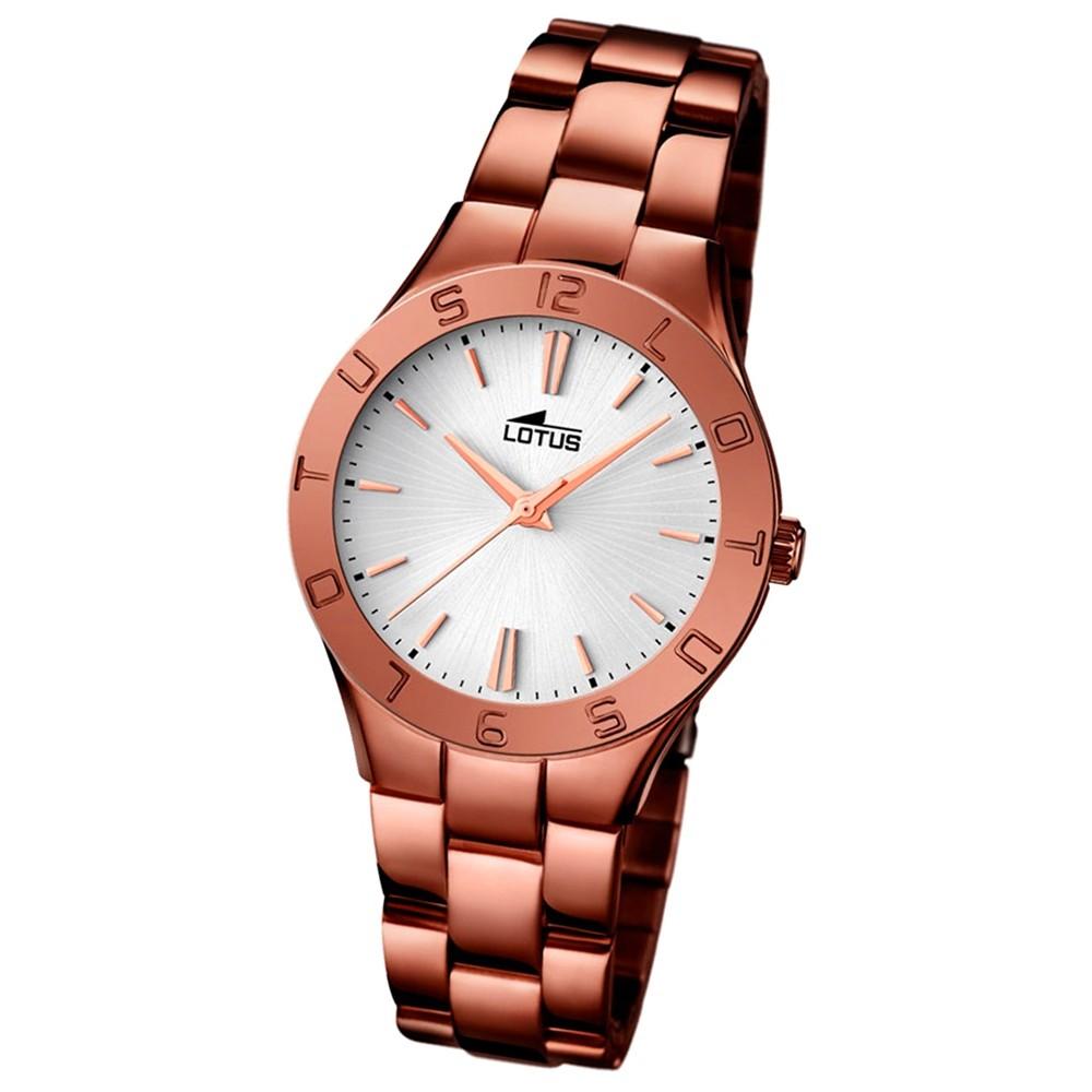 LOTUS Damen-Armbanduhr Trendy Analog Quarz-Uhr Edelstahl bronze UL15997/1