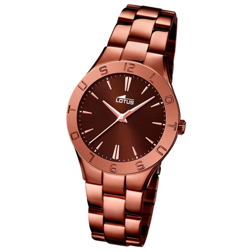LOTUS Damen-Armbanduhr Trendy Analog Quarz-Uhr Edelstahl bronze UL15997/2