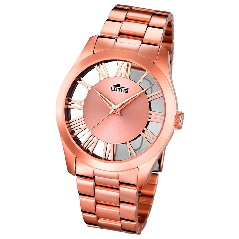 LOTUS Damen-Uhr - Minimalist - Analog - Quarz - Edelstahl - UL18124/1