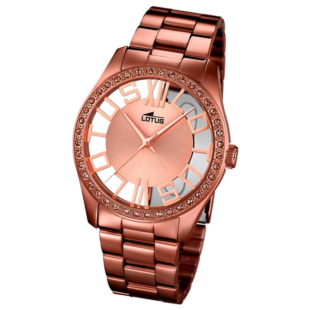 LOTUS Damen-Uhr - Woman/Trendy/Lady - Analog - Quarz - Edelstahl - UL18129/1