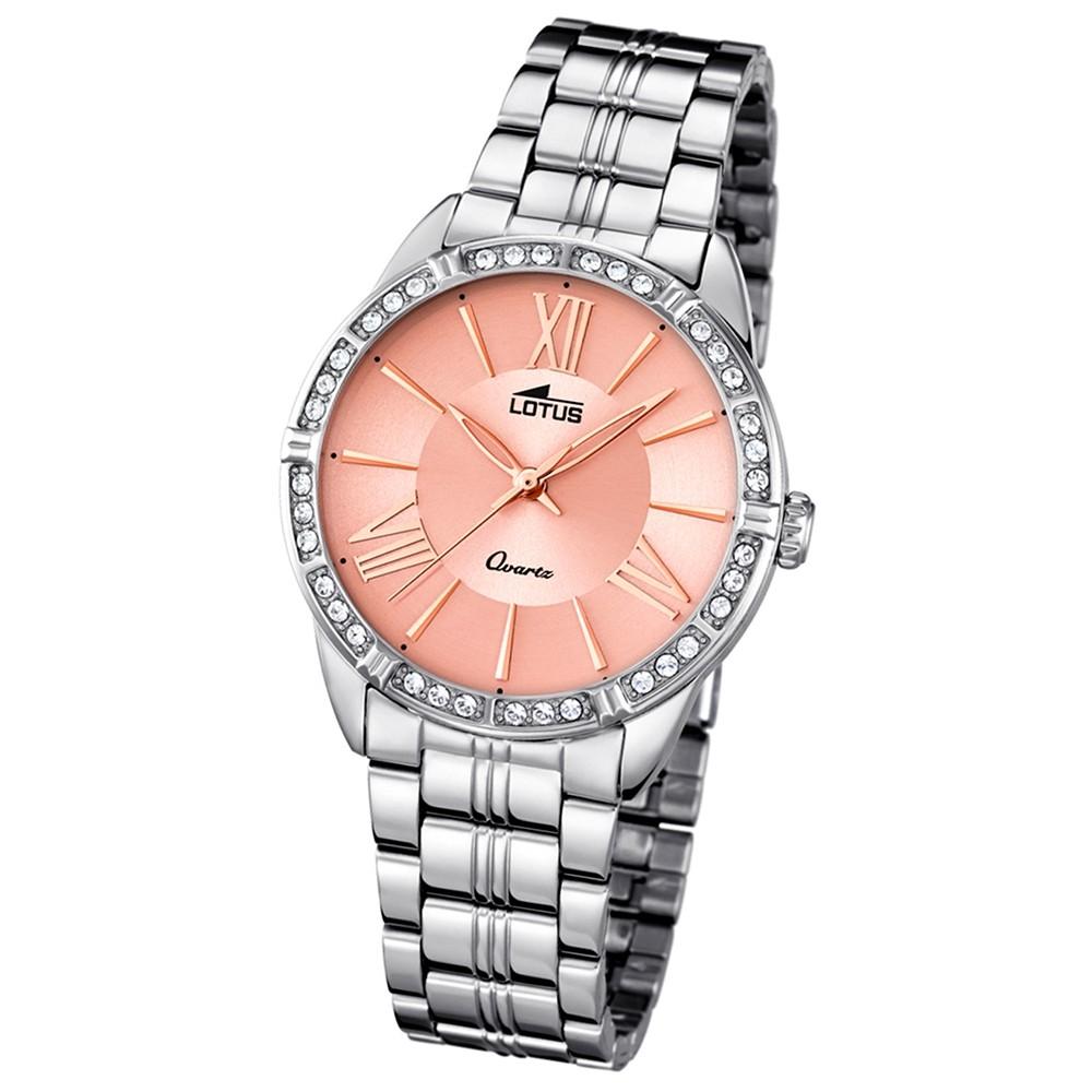 LOTUS Damen-Armbanduhr Analog Quarz Edelstahl silber UL18130/2