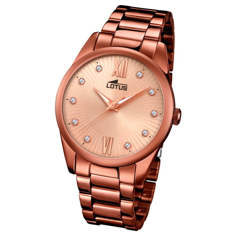 Lotus Damen-Armbanduhr Edelstahl bronze 18145/5 Quarz Trendy UL18145/5