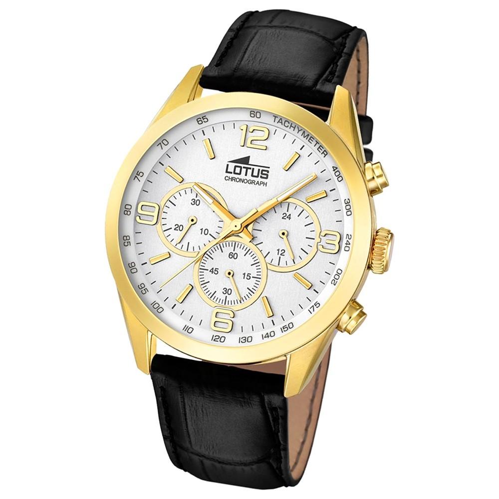 LOTUS Herren-Uhr - Minimalist - Analog - Quarz - Leder Klassik Uhr UL18156/1