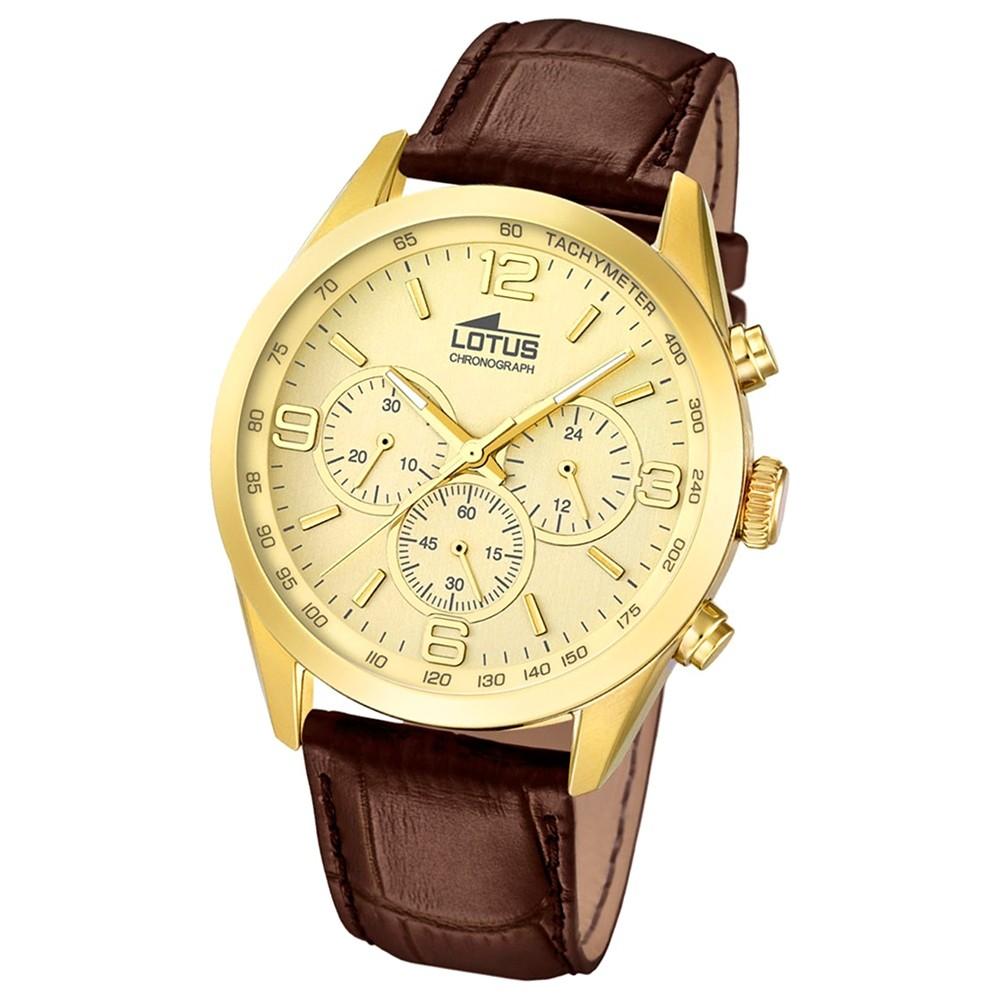 LOTUS Herren-Uhr - Minimalist - Analog - Quarz - Leder Klassik Uhr UL18156/2