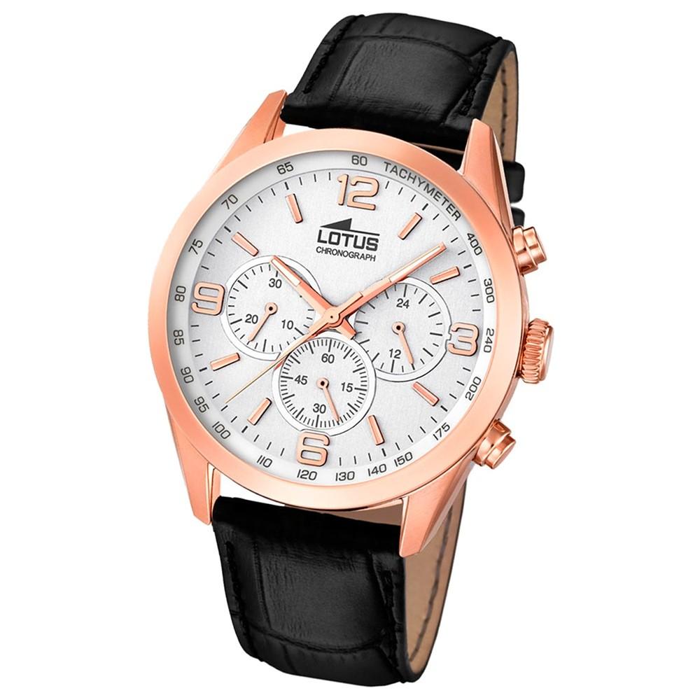 LOTUS Herren-Uhr - Minimalist - Analog - Quarz - Leder Klassik Uhr UL18157/1