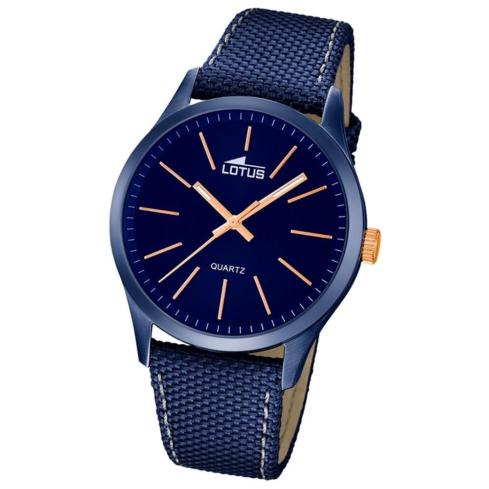 LOTUS Herren-Uhr - Minimalist - Analog - Quarz - Leder/Textil - UL18166/2