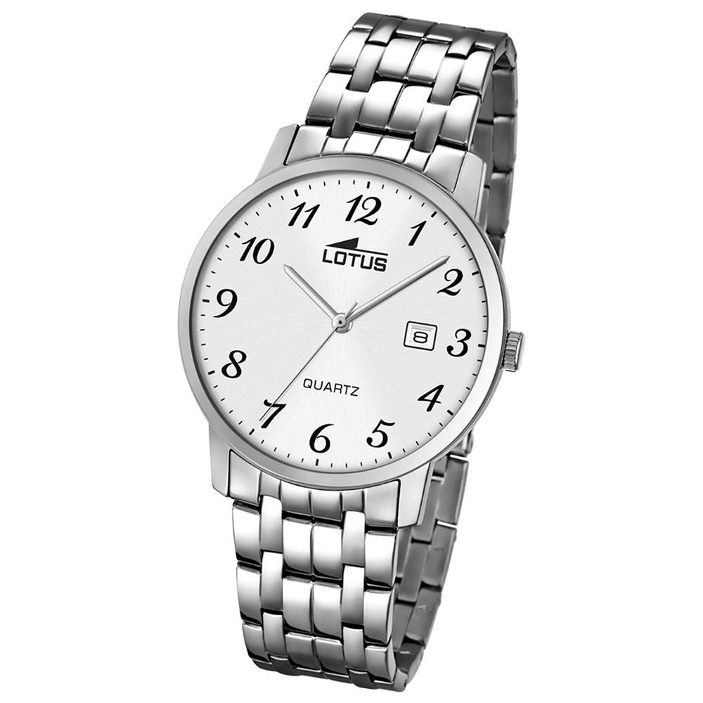 LOTUS Herren-Uhr - Stahlband klassisch - Analog - Quarz - Edelstahl - UL18175/1