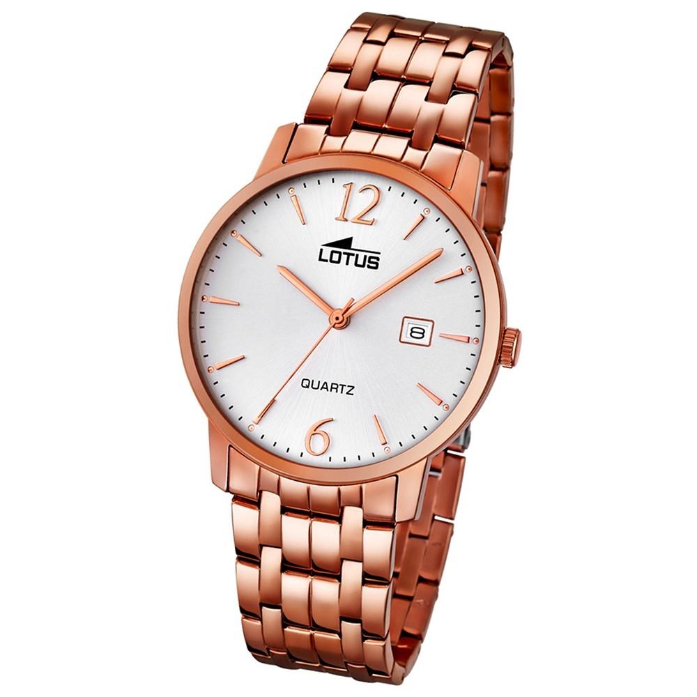 LOTUS Herren-Uhr - Stahlband klassisch - Analog - Quarz - Edelstahl - UL18178/1