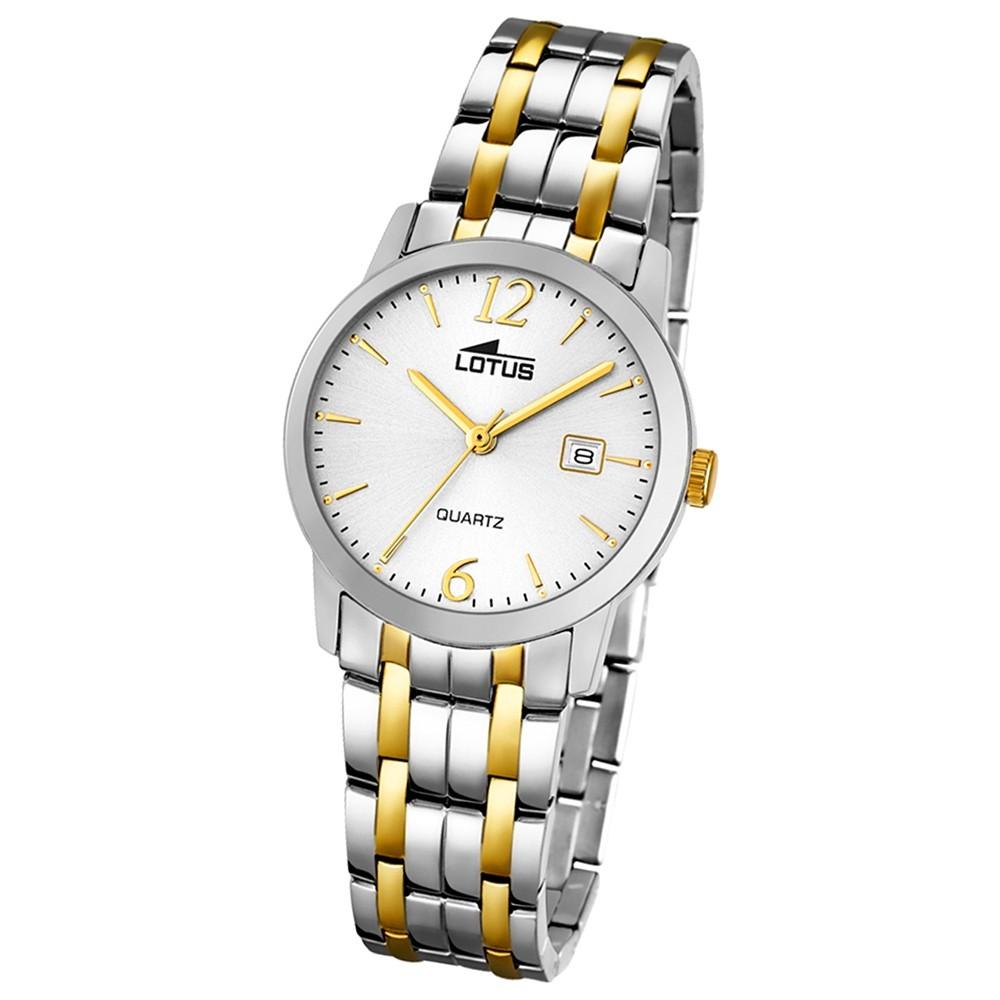 LOTUS Damen-Uhr - Stahlband klassisch - Analog - Quarz - Edelstahl - UL18180/1