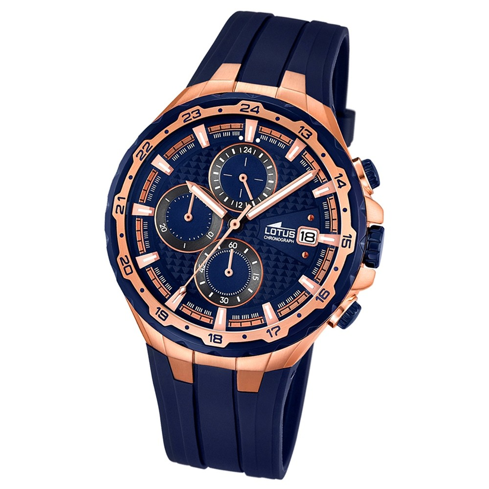 LOTUS Herren-Uhr - Smart Casual - Analog - Quarz - PU - UL18186/2