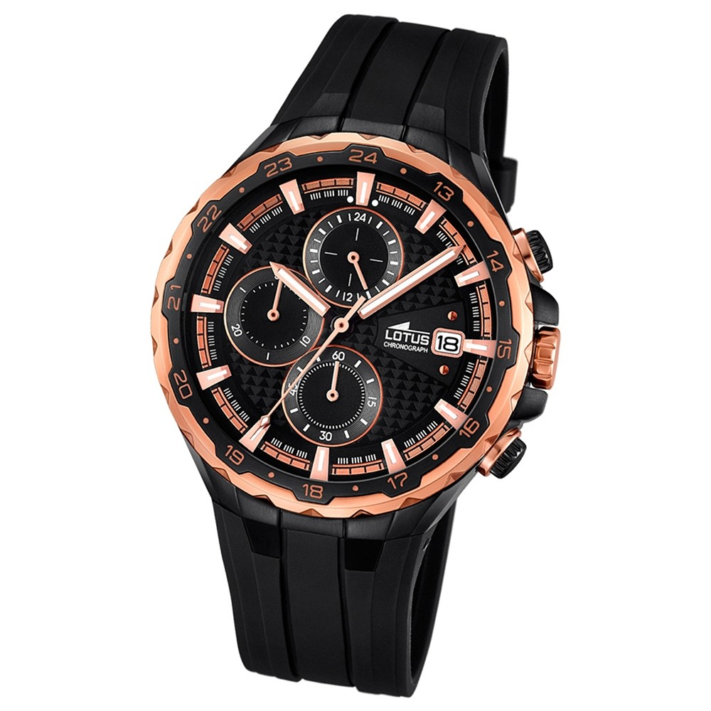 LOTUS Herren-Uhr - Smart Casual - Analog - Quarz - PU - UL18188/1