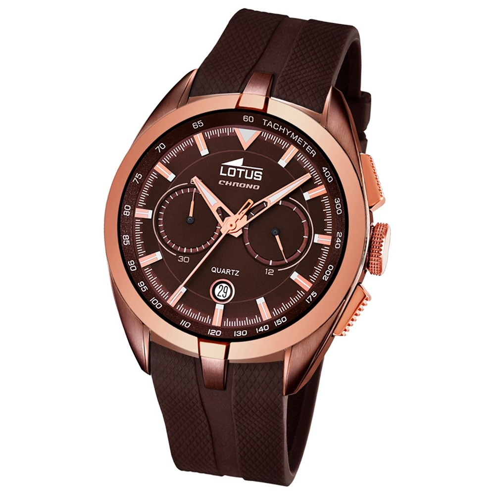 LOTUS Herren-Uhr - Smart Casual - Analog - Quarz - PU - UL18191/1