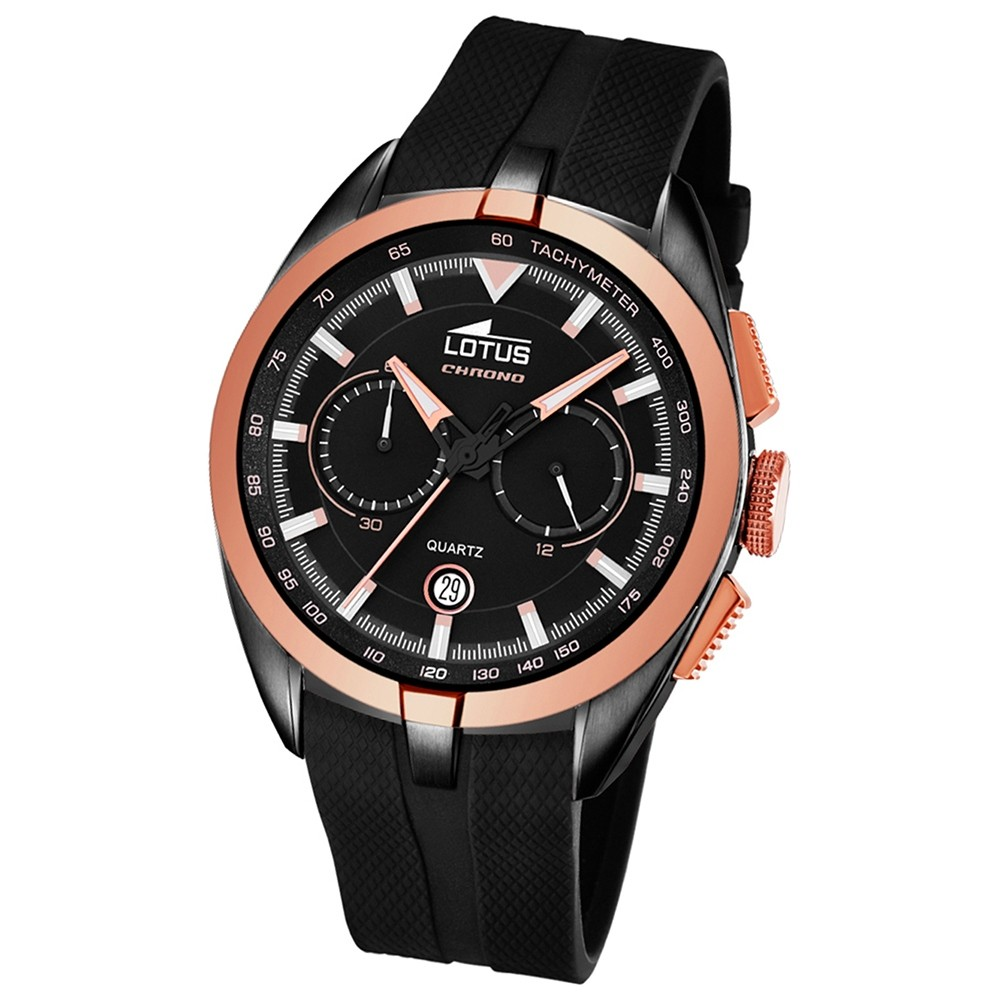 LOTUS Herren-Uhr - Smart Casual - Analog - Quarz - PU - UL18192/1