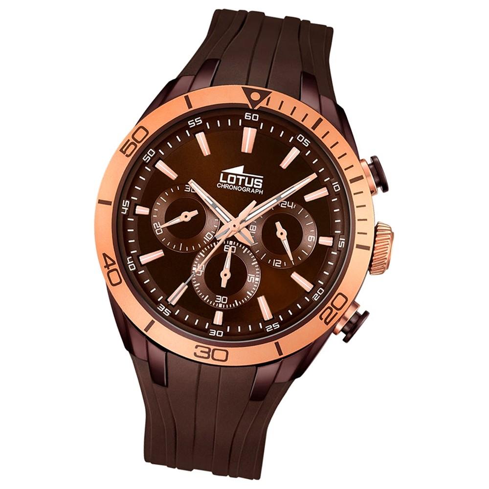 LOTUS Damen/Herrenuhr Smart Casual Chronograph Quarz Uhr PU braun UL18194/1
