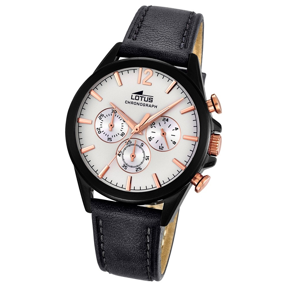 LOTUS Herren-Uhr - Smart Casual - Analog - Quarz - Leder - UL18199/1