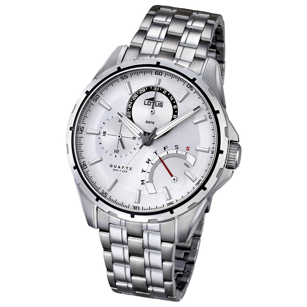 LOTUS Herren-Armbanduhr Smart Casual Analog Quarz-Uhr Edelstahl silber UL18203/1