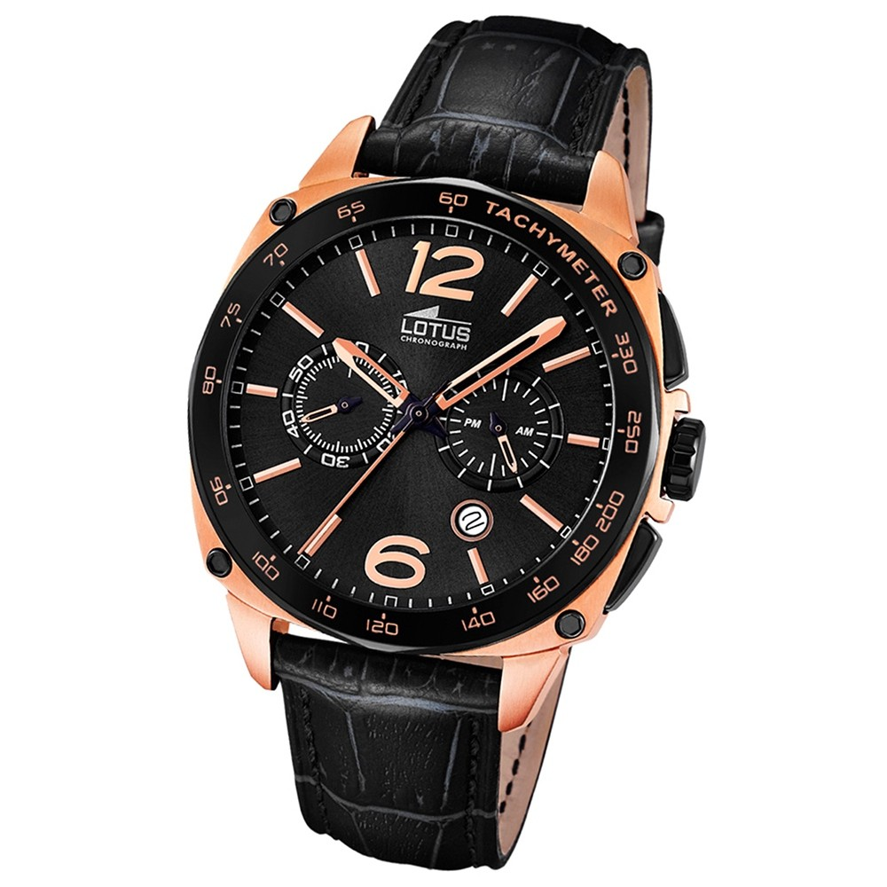 LOTUS Herren-Uhr - Smart Casual - Analog Chronograph - Quarz - leder - UL18217/3