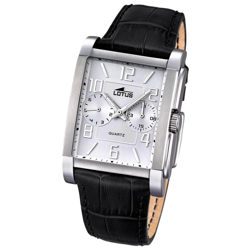 LOTUS Herren-Uhr - Multifunktion - Analog - Quarz - Leder - UL18221/1