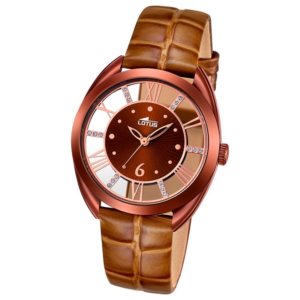 LOTUS Damen-Uhr - Woman/Trendy/Lady - Analog - Quarz - Leder - UL18227/1