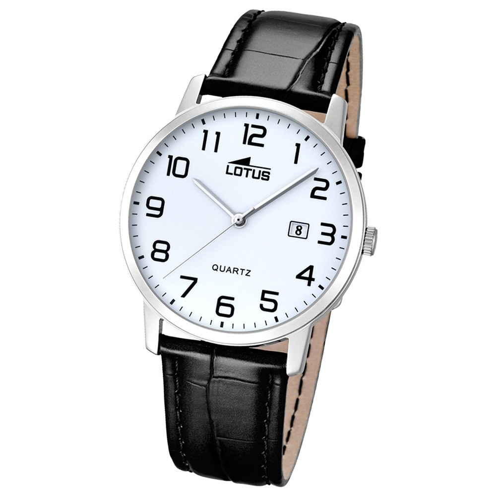 LOTUS Herren-Uhr - Lederband klassisch - Analog - Quarz - Leder - UL18239/1