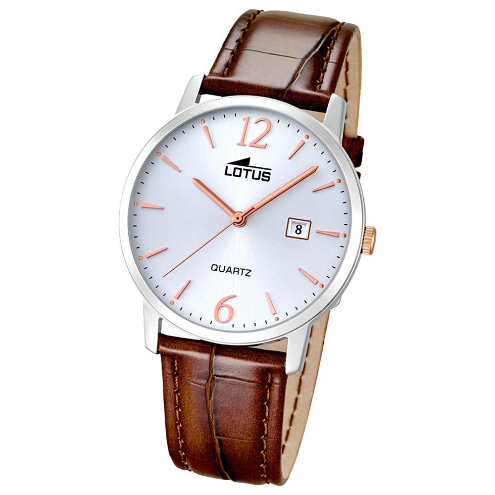 LOTUS Herren-Uhr - Lederband klassisch - Analog - Quarz - Leder - UL18239/4