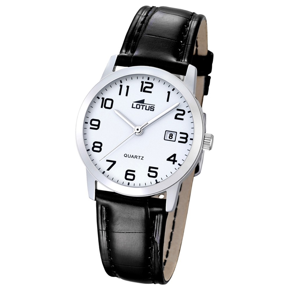 LOTUS Damen-Uhr - Lederband klassisch - Analog - Quarz - Leder - UL18240/1