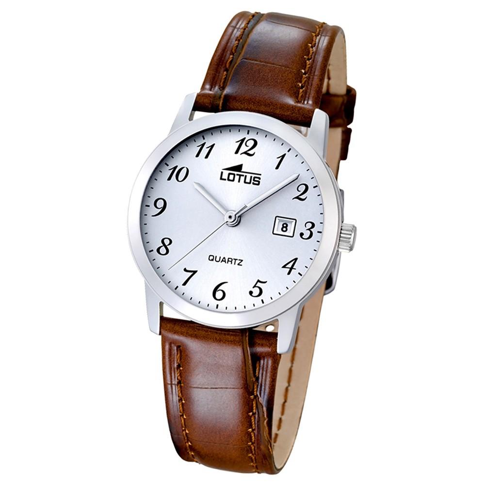 LOTUS Damen-Uhr - Lederband klassisch - Analog - Quarz - Leder - UL18240/2
