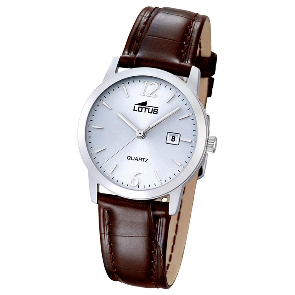 LOTUS Damen-Uhr - Lederband klassisch - Analog - Quarz - Leder - UL18240/3