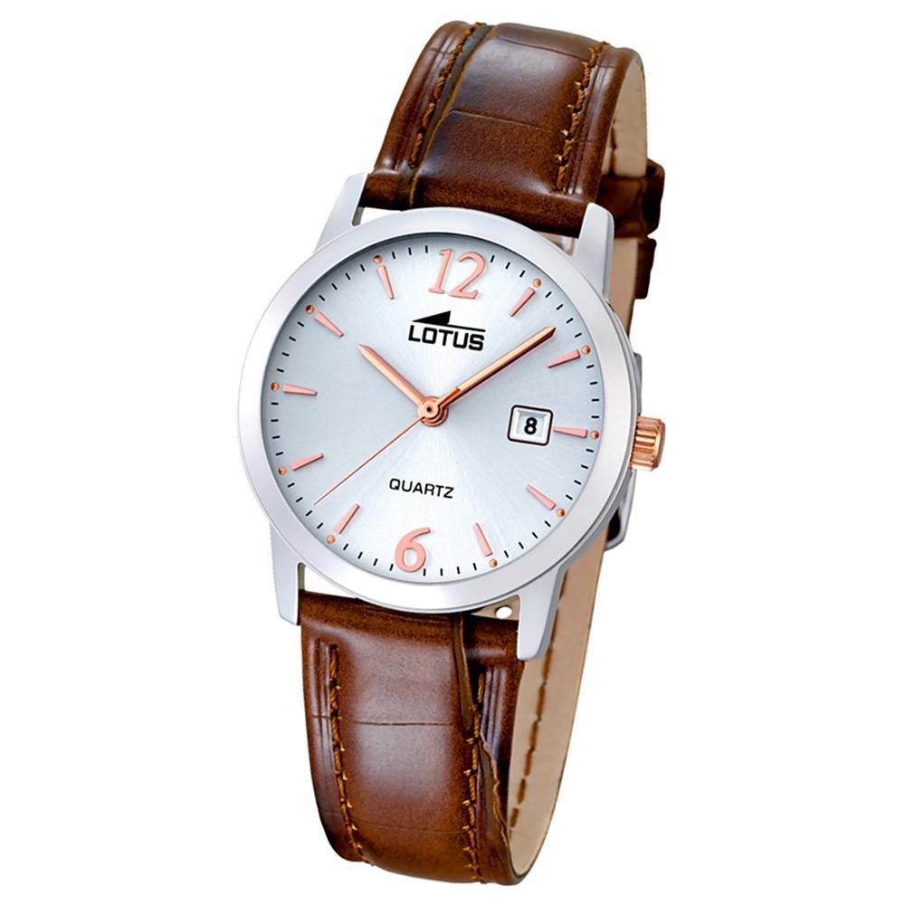 LOTUS Damen-Uhr - Lederband klassisch - Analog - Quarz - Leder - UL18240/4