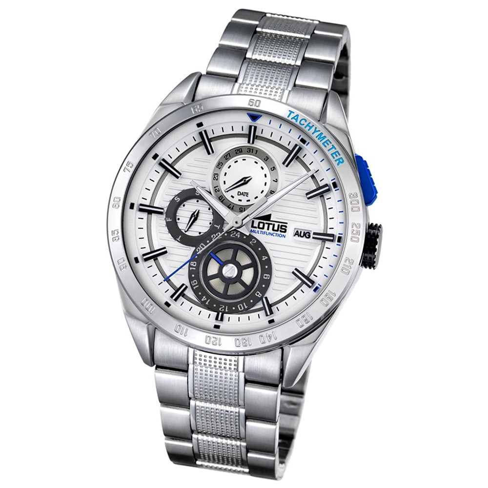 LOTUS Herren-Armbanduhr Smart Casual Analog Quarz-Uhr Edelstahl silber UL18244/1