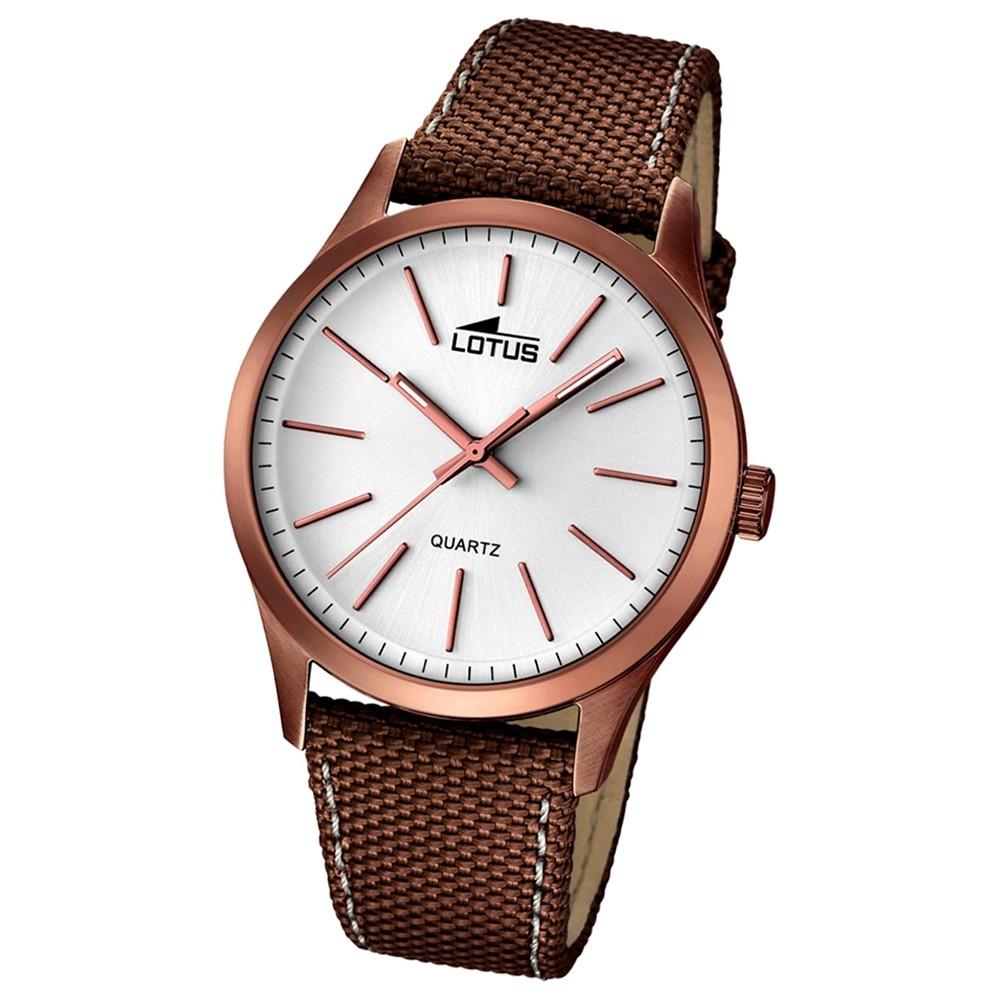 LOTUS Herren-Armbanduhr Smart Casual Analog Quarz-Uhr braun UL18246/1