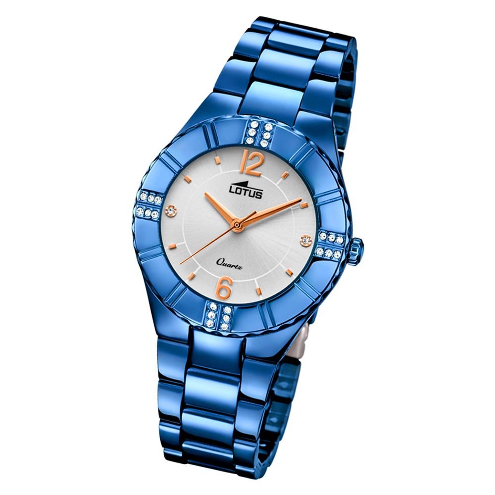 Lotus Damen-Armbanduhr Edelstahl blau 18247/3 Quarz Trendy UL18247/3