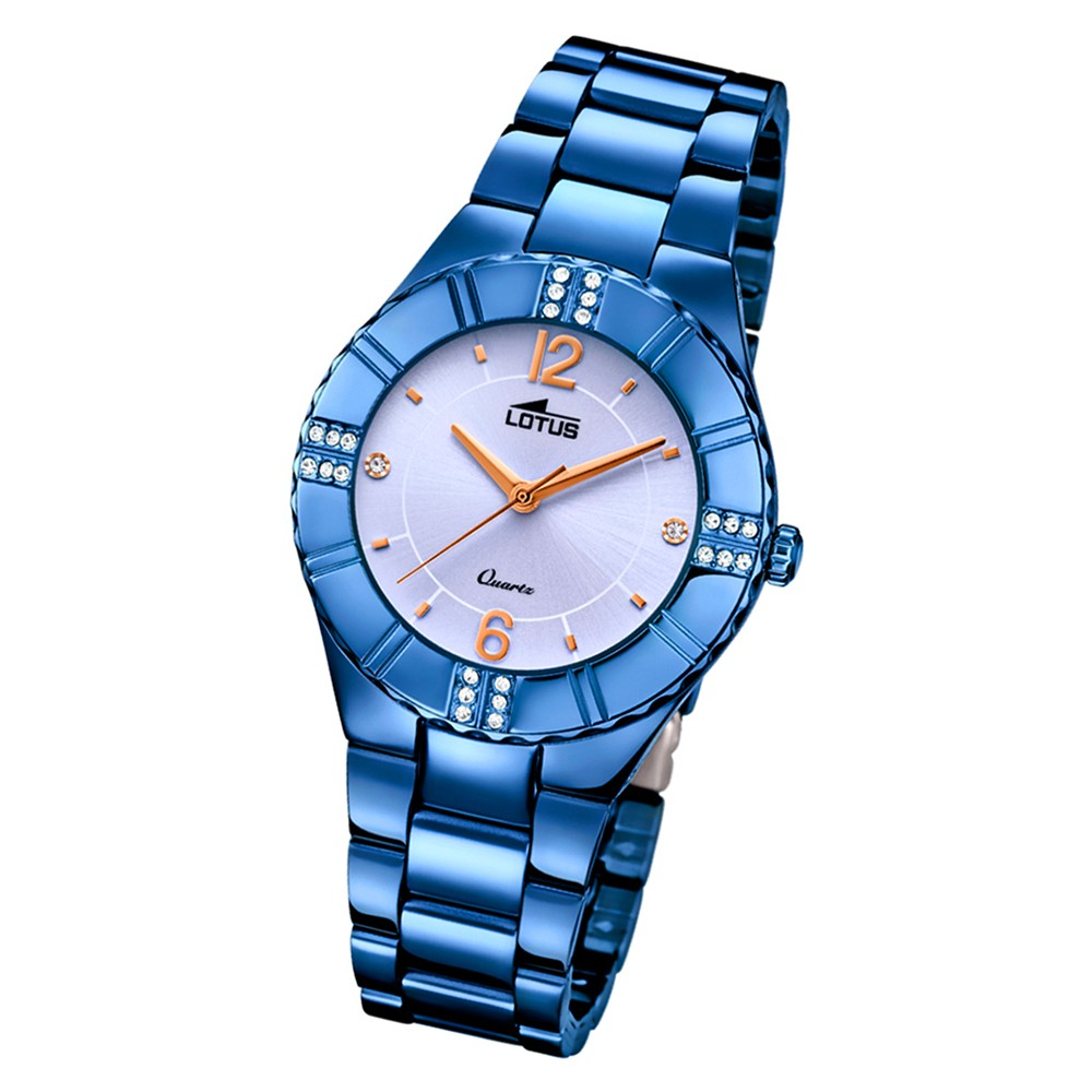 Lotus Damen-Armbanduhr Edelstahl blau 18247/4 Quarz Trendy UL18247/4