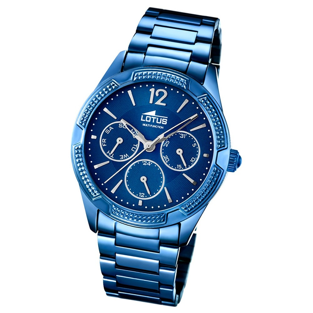 LOTUS Damen-Armbanduhr Trendy Analog Quarz Edelstahl blau UL18248/3