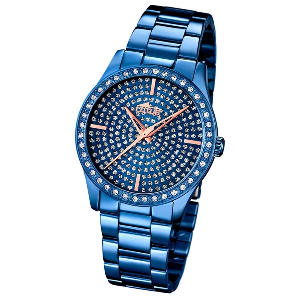 LOTUS Damen-Armbanduhr Trendy Analog Quarz-Uhr Edelstahl blau UL18254/1