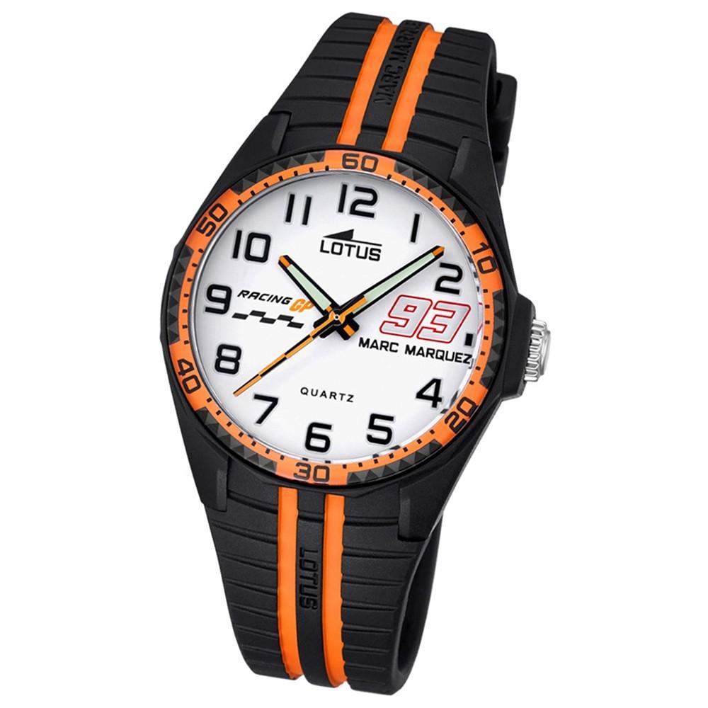 LOTUS Kinder Jugend Uhr Marc Marquez Wechselband Quarz schwarz orange UL18261/3
