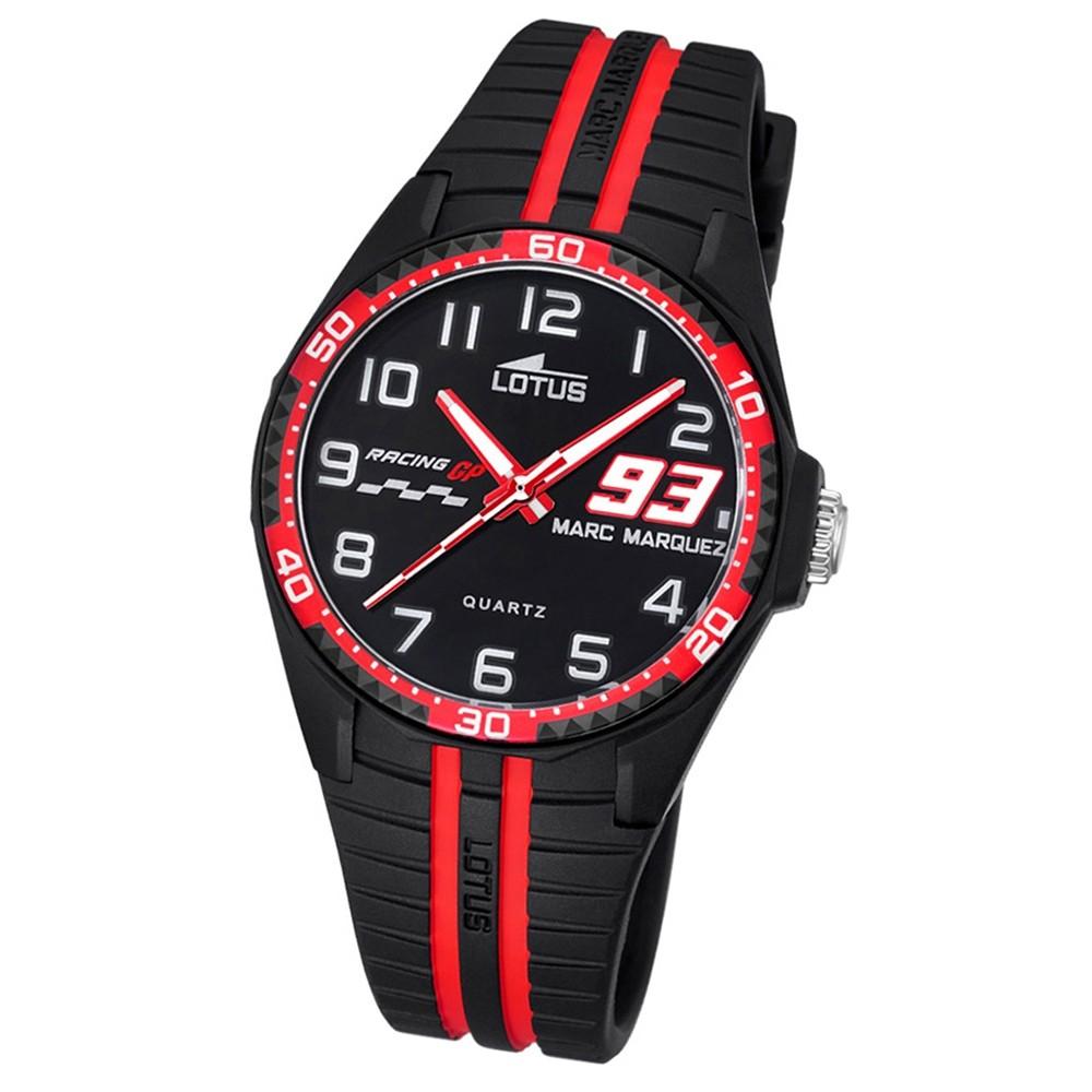 LOTUS Kinder Jugend Uhr Marc Marquez Wechselarmband Quarz schwarz rot UL18261/5