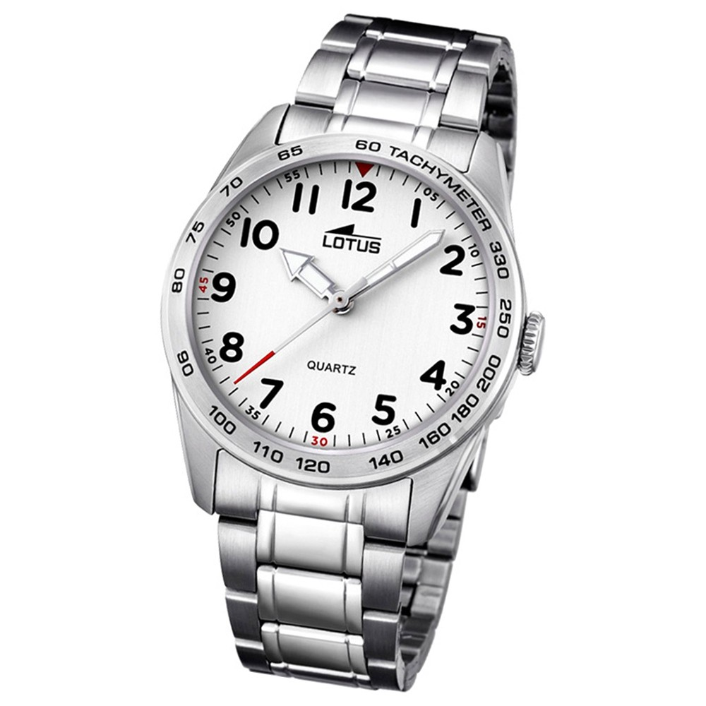LOTUS Jugend-Armbanduhr Junior Analog Quarz-Uhr Edelstahl silber UL18275/1