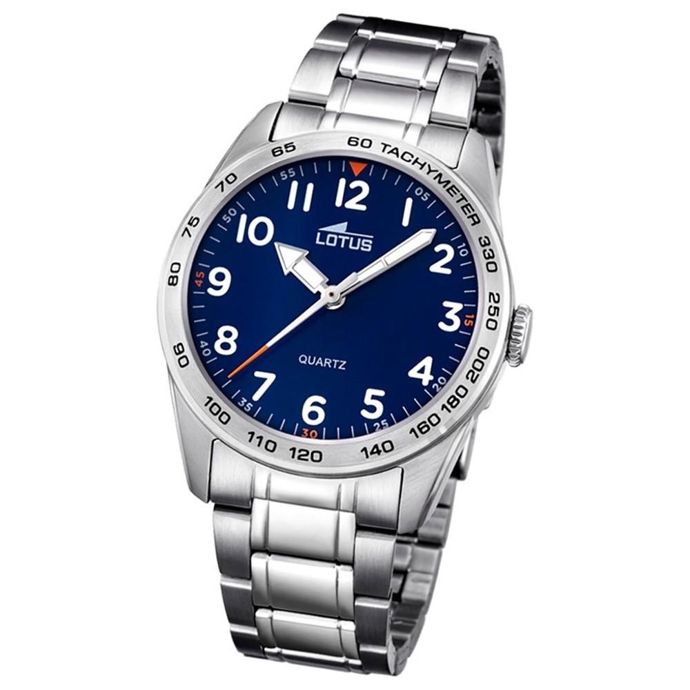 LOTUS Jugend-Armbanduhr Junior Analog Quarz-Uhr Edelstahl silber UL18275/2
