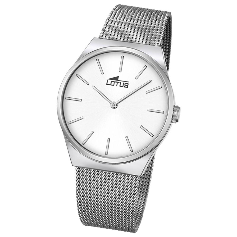 LOTUS Herren Damen-Uhr Stahlband klassisch Quarz Edelstahl silber UL18285/1