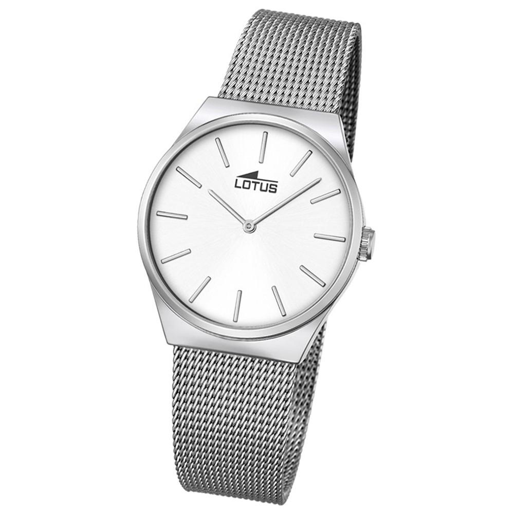 LOTUS Damen-Armbanduhr Edelstahl silber Stahlband klassisch Quarz UL18288/1