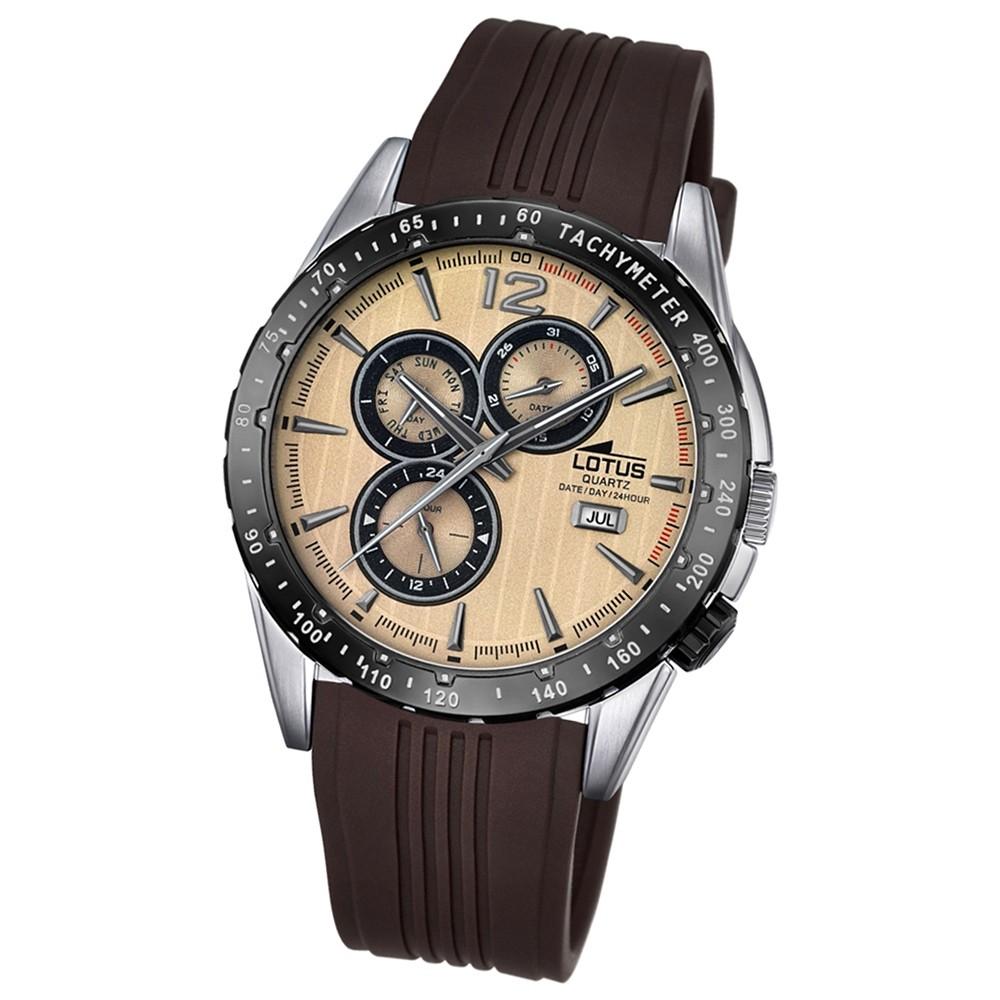 LOTUS Herren-Armbanduhr Sport Analog Quarz-Uhr PU braun UL18310/2