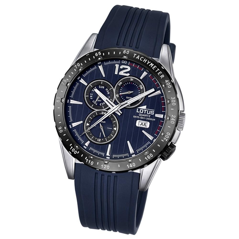 LOTUS Herren-Armbanduhr Analog Quarz PU blau UL18310/3