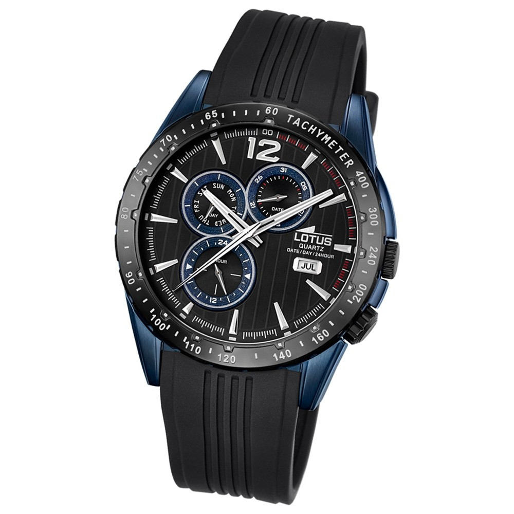 LOTUS Herren-Armbanduhr Analog Quarz PU schwarz UL18311/1