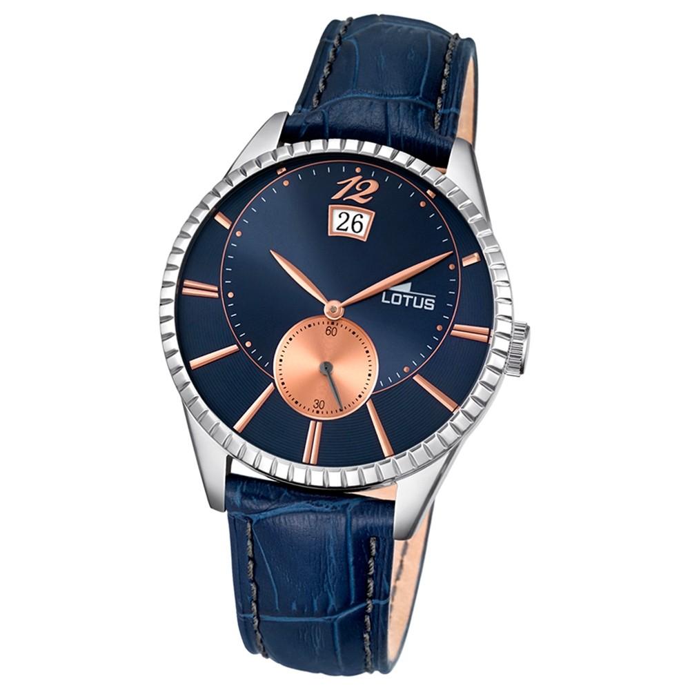 LOTUS Herren-Armbanduhr Analog Quarz Leder blau UL18322/4